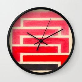 Geometric Pattern Watercolor Painting Wall Clock