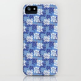Swanky Mo Blue iPhone Case