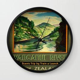 Vintage poster - Wanganui River Wall Clock