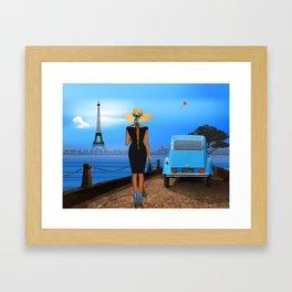 Love in Paris Framed Art Print