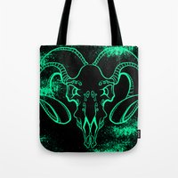 bull Tote Bags featuring Bull by Littlefox