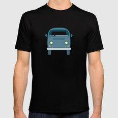 #52 Volkswagen Type 2 Bus Mens Fitted Tee Black MEDIUM