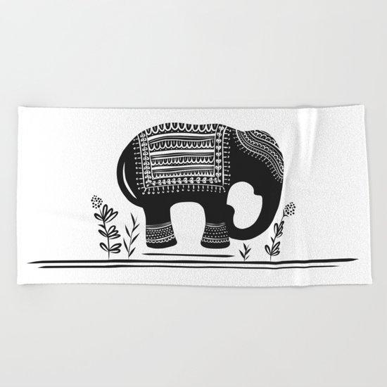 Lucky Elephant Beach Towel