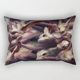 Go forward and forward Rectangular Pillow
