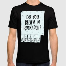 Believe in Rock & Roll X-LARGE Mens Fitted Tee Black