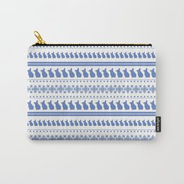 Bunny Blue Christmas Carry-All Pouch