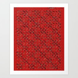 Tartan Alphabet Pattern / Dennis Weber / ShreddyStudio Art Print