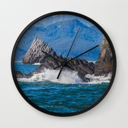 Pacific ocean bay Wall Clock