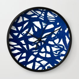 Blue Squiggles Wall Clock