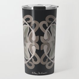 Safe Mandala x2 - Black Brown Travel Mug