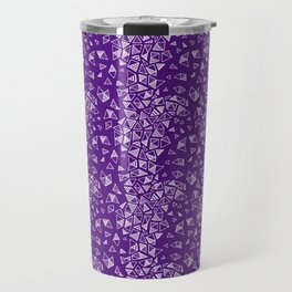 Stripes & Triangles in Purple Travel Mug