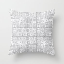 Fretwork Pattern Throw Pillow