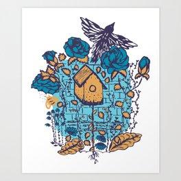 Fly free little bird Art Print