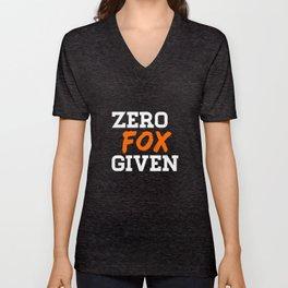 fox fox forest animal fox fux forest animal Unisex V-Neck