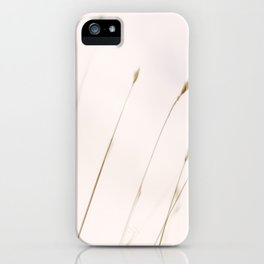 Tall grass against cloudy sky iPhone Case