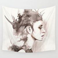 hydra Wall Tapestries featuring Hydra by BookOfFaces