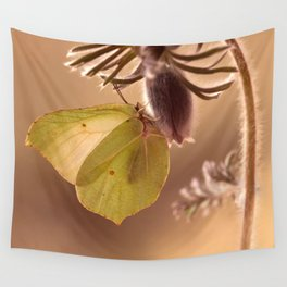 Spring impression with pasque flower Wall Tapestry