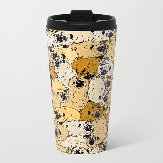 pug world Metal Travel Mug