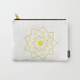Yellow Mandala Flower Carry-All Pouch