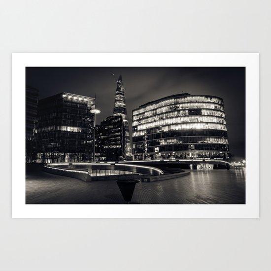 Shard London Bridge | b/w Art Print