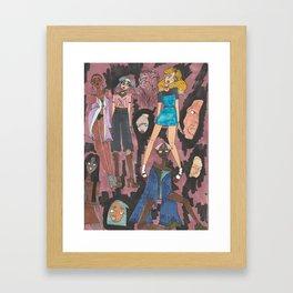 Pink Ladies Framed Art Print
