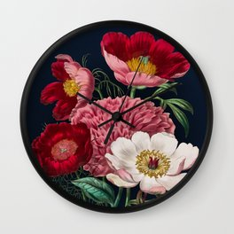 Flower garden III Wall Clock