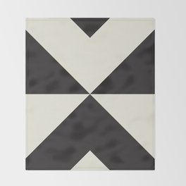 Split X Black Throw Blanket