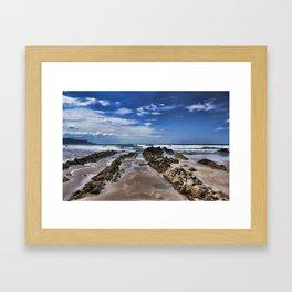 Widemouth Bay Rock Formation Framed Art Print