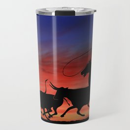 Cowboy under the Moon. Travel Mug