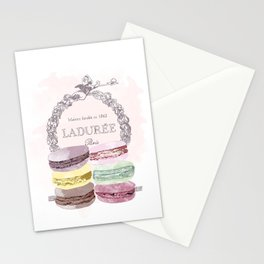 French Macaroon, Kitchen Art, Pastel Stationery Cards