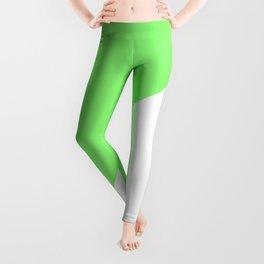 Lime/White Leggings
