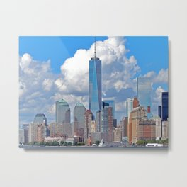 Riding the Staten Island Ferry Metal Print
