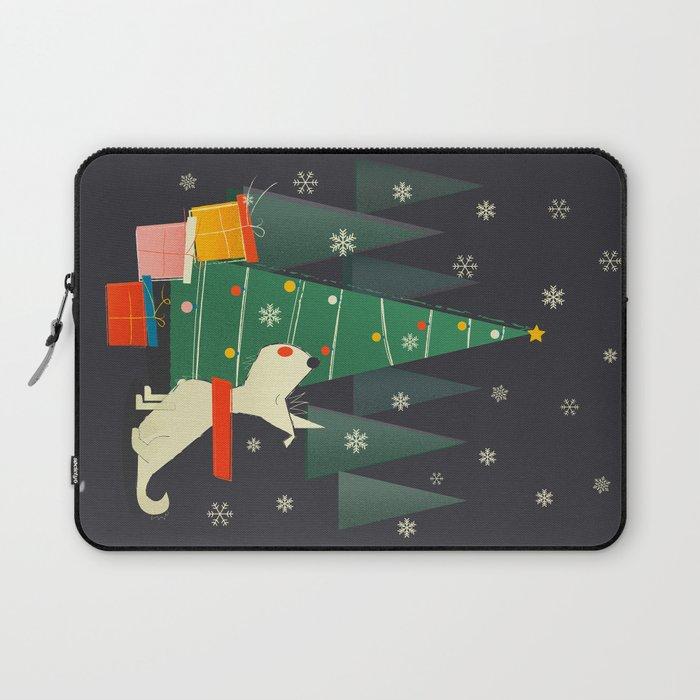 Little White Christmas Westie Laptop Sleeve