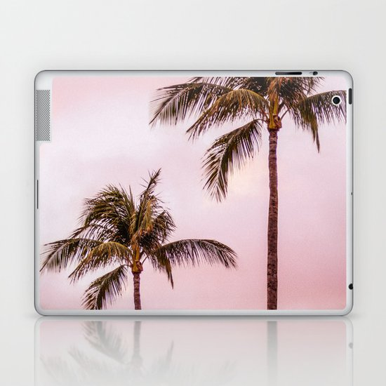 Palm Tree Photography | Landscape | Sunset Unicorn Clouds | Blush Millennial Pink by wildhood