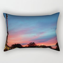 Fire over the Midway Rectangular Pillow