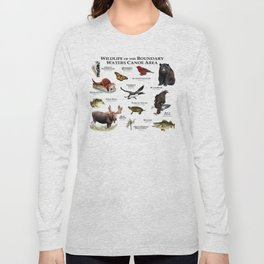 Wildlife of the Boundary Water Canoe Area Long Sleeve T-shirt