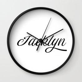 Name Jacklyn Wall Clock
