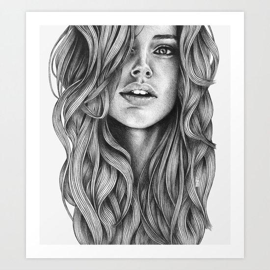 Frizzy Art Print