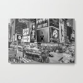 Times Square II (B&W widescreen) Metal Print