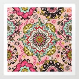Mandala color pattern Art Print