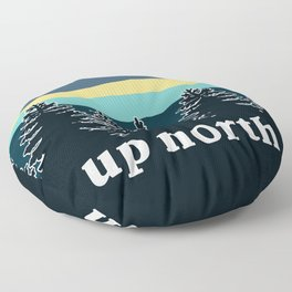 up north, teal & yellow Floor Pillow