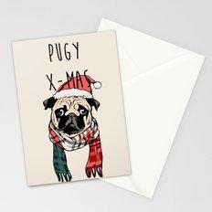 Pugy X-Mas Stationery Cards