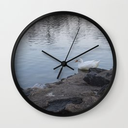 Duck In A Pond Wall Clock