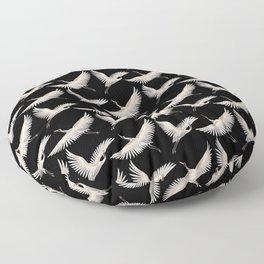 delicate japanese cranes pattern Floor Pillow