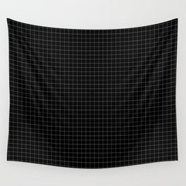 Grid in Black Wall Tapestry