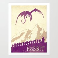 hobbit Art Prints featuring The Hobbit by WatercolorGirlArt
