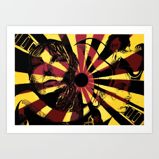 Yellow Ray Art Print