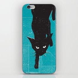 Black Kat iPhone Skin