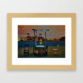 cafe cafe cafe Framed Art Print