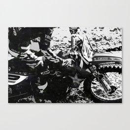 Dirt Bike Star - Motocross Racing Canvas Print